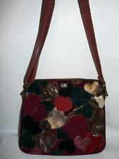 Lucky Brand Patchwork Multi Color Heart Tablet Carry Messenger