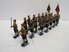 Atout miniatures x 21 écossais black watch 1946 parade marching carton (BS1668)