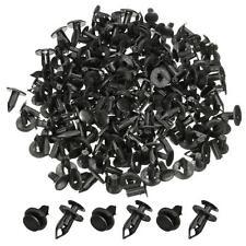 100pz 30x8mm Set Nero Plastica Rivetti Clip Scatto Fermaglio Per Auto Parafango