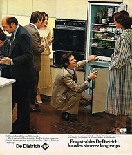 PUBLICITE ADVERTISING 124  1977  DE DIETRICH    LES ENCATRABLES  FRIGO FOUR