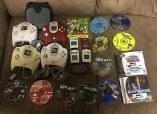 Sega Dreamcast 4 CONTROLLER Mem Cards 12 GAME Lot - FREE S&H
