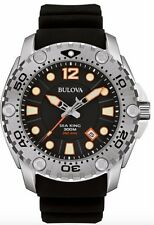 Bulova Sea King 96B228 Black Dial Black Rubber Band Diver Men's Watch