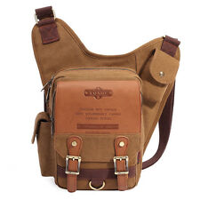 Men16 oz Canvas Saddle Bag Tactical Military Cross Body Messenger Shoulder Pouch