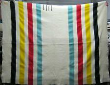 Vintage Hudson Bay Point Blanket Wool Authentic #1634-13