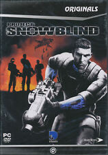 PROJECT SNOWBLIND Eidos Shooter for Windows PC Game - UK Version NEW in DVD BOX!