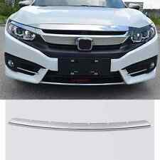 1pc CHROME FRONT LOWER BUMPER HOOD TRIM GRILL COVER FITFOR Honda Civic 2016 2017
