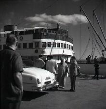 TANGER c. 1950 - Négatif 6x6 Port Paquebot Maroc - OST 28