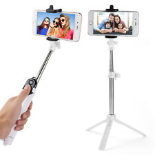 Bluetooth Selfie Remote Control Shutter+Tripod Holder Monopod For iPhone 7 6Plus