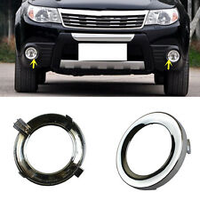 For Subaru Forester 2009-2012 2pcs ABS Chorme Front Fog Lamp Frame replacement
