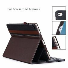Apple iPad Pro 12.9 Case Stand Compatible Smart Keyboard Elastic strap Leather