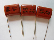 10PCS CBB21 473J 630V 0.047UF 47NF P15 Metallized Film Capacitor