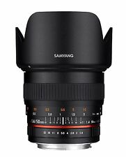 NEW Samyang 50mm F1.4 Full Frame Lens for SLR and DSLR CAMERAS with Case