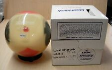 14# 3oz, TW 2-5/8 NIB Lanehawk GAMBLER Clear Bowling Ball, Undrilled, Yellowed