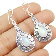 Rainbow Moonstone 925 Sterling Silver Earring Jewelry E-426