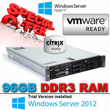 "Dell PowerEdge R710 2x 4-CORE E5630 2.53Ghz 96GB DDR3 3.5"" 1TB 7.2K RPM HDD RAID"