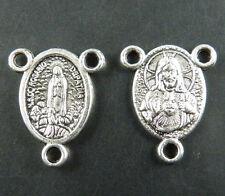 60pcs Tibetan Silver Saint Connectors 19x15mm 1091