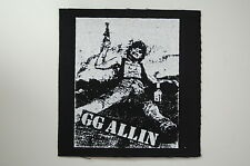 G.G. Allin Cloth Patch (CP205) Punk Rock Crust Mentors Sex Pistols Adicts