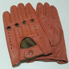 REAL LEATHER MEN'S DRIVING GLOVES PERFECT FIT SOFT LEATHER