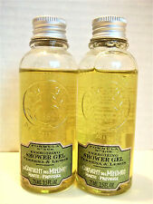 Le Couvent des Minimes VERBENA LEMON Energizing Shower Gel, 2.5 oz/75 mL, NEW x2