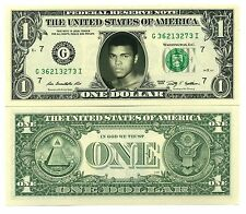 MOHAMED ALI - VRAI BILLET DOLLAR US! Collection BOXE Sport Muhammad Cassius Clay