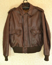 GENUINE MEN'S Schott NYC LEATHER Aviator/Pilot/Flyer/Bomber Jacket size 48