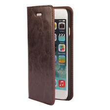 Apex Retro Genuine Real Leather Book Style Wallet Case for iPhone 6 / 6s