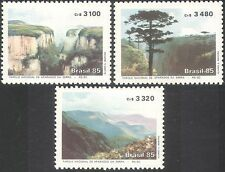 Brazil 1985 National Park/Forest/Trees/River/Canyon/Conservation 3v set (n33021)