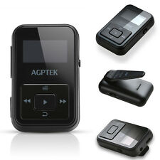 AGPtek 8GB Portable Clip MP3 Player with FM Radio LED Display  for Gym Sport