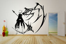 Wall Vinyl Sticker Decal Anime Manga 07-Ghost Man Boy Wing Scythe V026