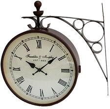 Double Sided New Look Wall Clock in 12 Inches in Black Finishing. FLAT 41% OFF