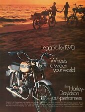 1970 Harley Davidson Leggero Motorcycle Wheels To Widen Your World Print Ad