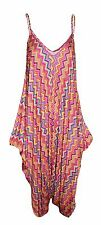 New Womens Printed Cami Strappy Lagenlook Jumpsuit Playsuit Top Dress Plus Size