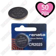 Renata Batteria CR2025 Litio 3V Pulsante Batteria Cr 2025 Pile A Bottone X50