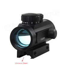Holographic Reflex Green Red Illuminated Dot Sight Scope w/ Mount 5 MOA Tactical