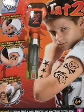 NEW Boys Tattoo Stencil Kit Temporary Body Designs Children With Washable Pens