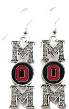 Ohio State Buckeyes Mom Clear Crystal Silver Earrings Jewelry Mothers Day OSU