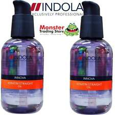 2 x INDOLA INNOVA KERATIN STRAIGHT OIL 100ML BRAND NEW & GENUINE UNOPENED