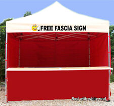 MOBILE CATERING TRAILER GAZEBO HEAVY DUTY PRINTED RED  PINK ORANGE PURPLE GREEN