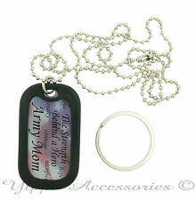 "U.S. Army Mom ""The Strength Behind a Hero""  Military Dog Tag / Key chain"