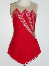 CUSTOM MADE TO FIT Stunning Figure Skating Dress with SWAROVSKI CRYSTALS