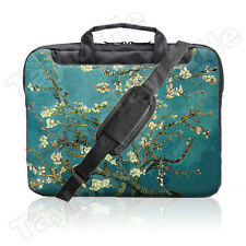 "TaylorHe 15.6"" 15"" Laptop Shoulder Bag Carry Case Handles Strap Vintage Blossom"