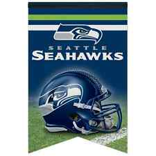 "SEATTLE SEAHAWKS ROLL UP PREMIUM FELT BANNER PENNANT 17""x26"" BRAND NEW WINCRAFT"