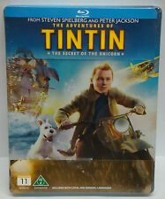 TinTin Adventures Of Tin Tin Secret Of The Unicorn Blu-ray STEELBOOK Steel book