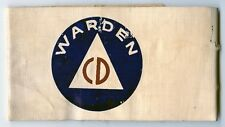 Great Early WWII Civil Defense Air Raid Warden Arm Band