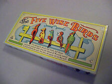Parker Brothers Vintage 1930's Five Wise Birds Daisy Cork Gun Game, Very Good