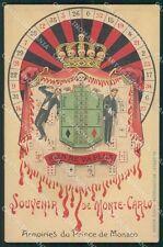 Monaco Montecarlo Roulette Carte da Gioco Teschio cartolina postcard QT5085