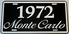 1972 72 MONTE CARLO METAL LICENSE PLATE 350 400 454 SS LOWRIDER CHEVY