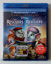 The Rescuers and Rescuers Down Under Australia 2 Movie Blu-ray & DVD Combo Pack