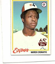 2016 topps 65th red buyback card 1978 468 warren cromartie montreal expos