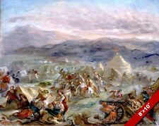 GREEK REVOLUTION FROM OTTOMANS PAINTING MILITARY HISTORY WAR ART CANVAS PRINT